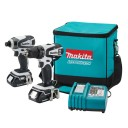 62% off Makita LCT200W 18-Volt Compact Lithium-Ion Cordless 2-Piece Combo Kit