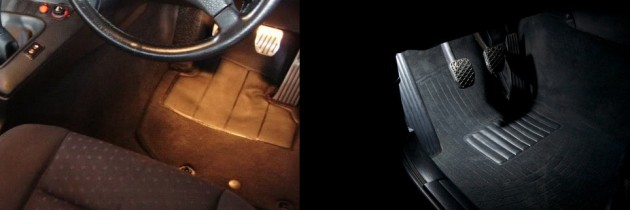 BMW E36 LED Footwell light install