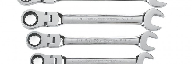 73% percent off GearWrench 7 Piece Flex-Head Combination Ratcheting Wrench Set SAE